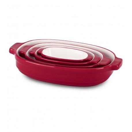 Pekáč keramický 4 ks - královská červená