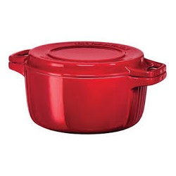 Hrnec s poklicí litinový 5,7l - 28 cm - královská červená