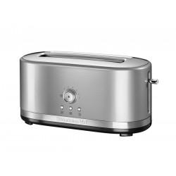Kitchenaid Toustovač 5KMT4116ECUs manuálním ovládáním a dlouhými otvory - stříbrná