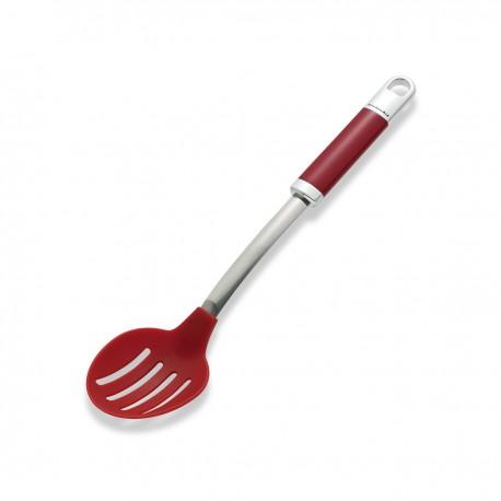 KitchenAid Drážkovaná lžíce se silikonovou hlavou - královská červená